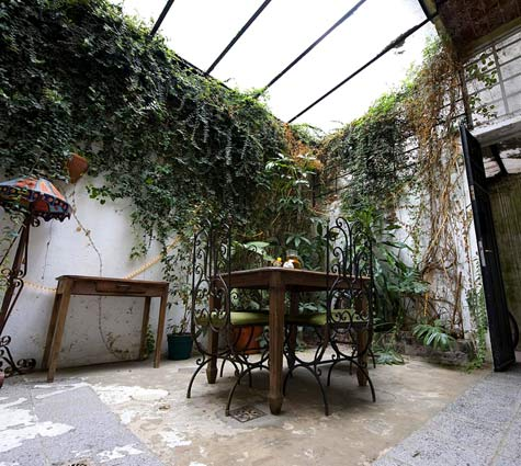 abandoned courtyard