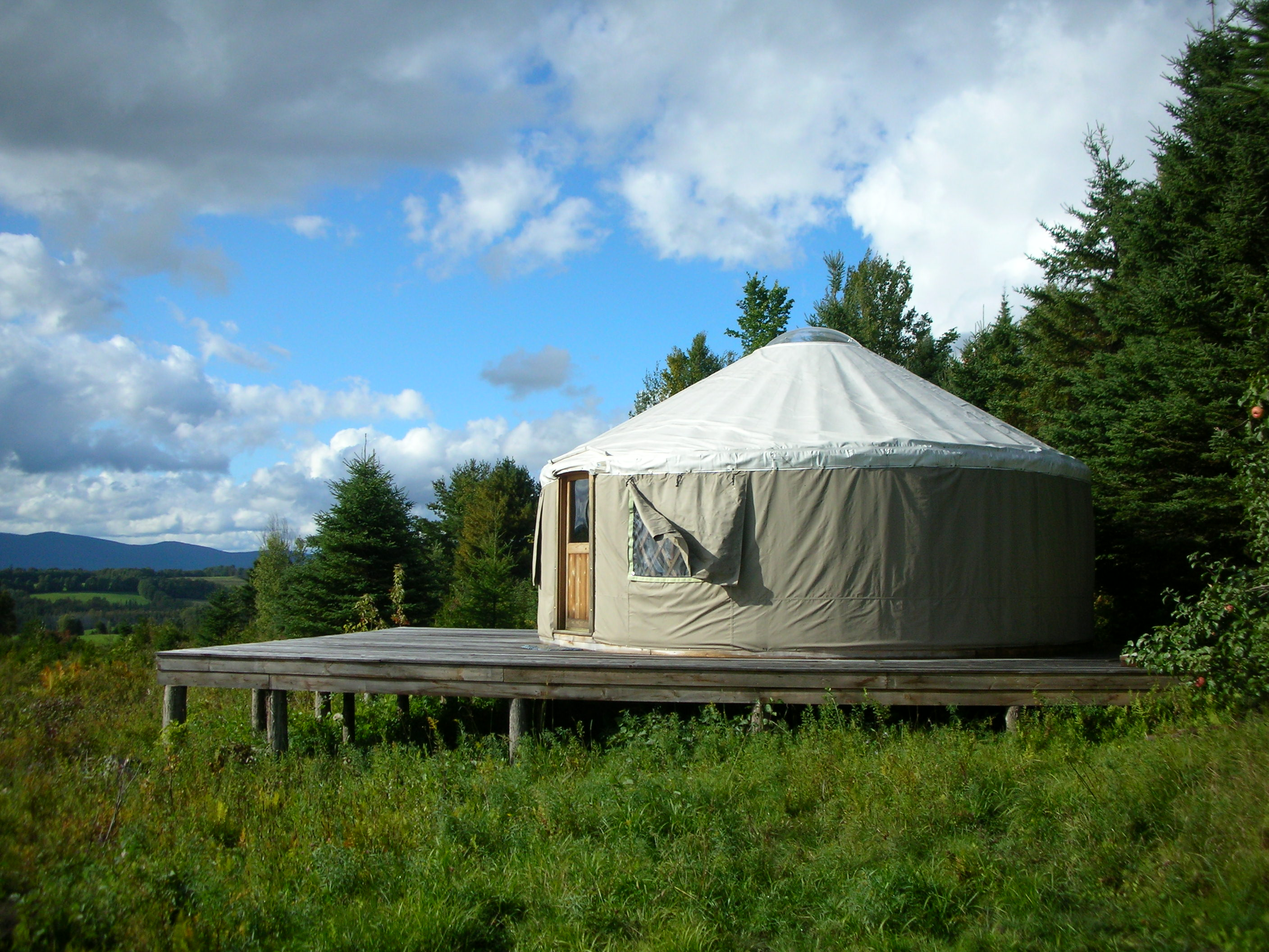 yurt in the countryside