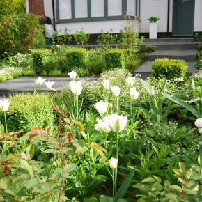 A chic spring front garden