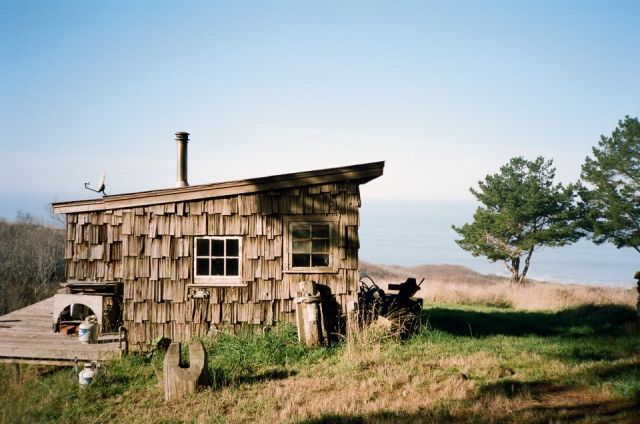 Seaside cabin in Mendocino, California.